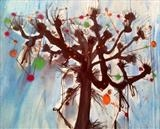 Coppiced Christmas Tree by Jane Burt, Painting