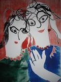 Girls in Spectacles by Jane Burt, Giclee Print