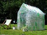 Green Green House by Jane Burt, Sculpture, Plastic Bottles