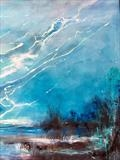 Last Snows. (Detail) by Jane Burt, Painting, Mixed Media on Canvas
