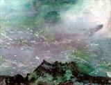Mountain Haze by Jane Burt, Painting, Monotype & Acrylic