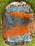 Raku fired plate by Jane Burt, Ceramics