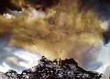 Storm over Dents du Midi by Jane Burt, Painting, Monotype & Acrylic