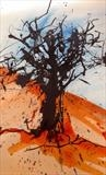 Tree at End of Summer by Jane Burt, Painting, Acrylic on paper