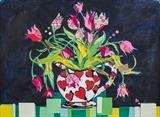 Tulips by Jane Burt, Painting, Collage