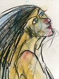 Wild Woman by Jane Burt, Painting, Charcoal on Paper